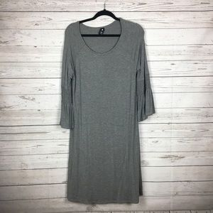 Agnes & Dora Gray Walker Bloom A-Line Dress XL